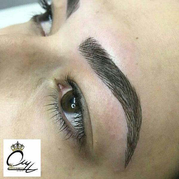 آموزش هاشور ابرو آموزشگاه آرایشگری زنانه