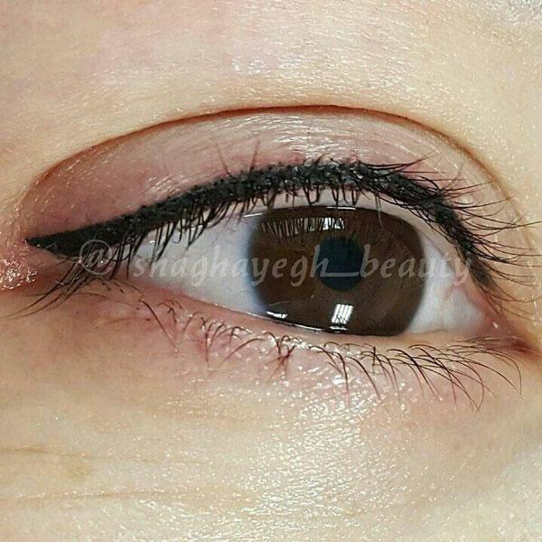 آموزش خط چشم دائم آموزشگاه آرایشگری زنانه