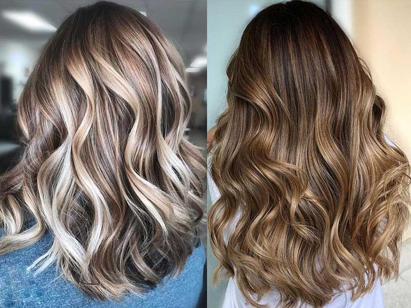 تکنیک رنگ موی بالیاژ ، مدل رنگ مو بالیاژ ، آموزشگاه آرایشگری زنانه