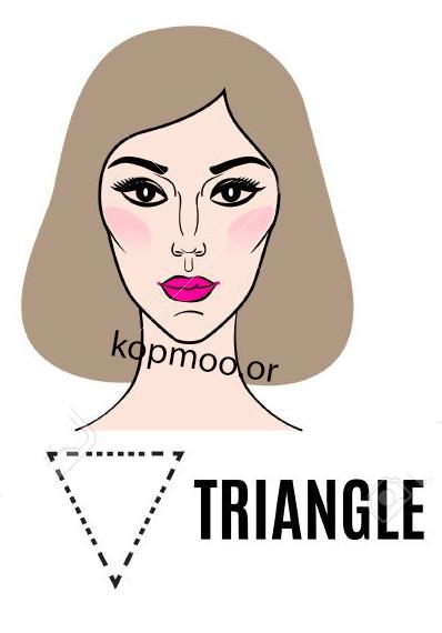 مدل موی زنانه مجلسی برای صورت های مثلثی