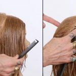 تقسیم بندی مو برای کوتاهی